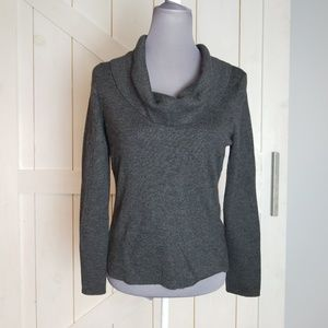 Ann Taylor Large gray cowl neck sweater